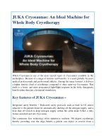 juka cryosaunas an ideal machine for whole body