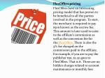 flexoffers pricing flexoffers have an interesting