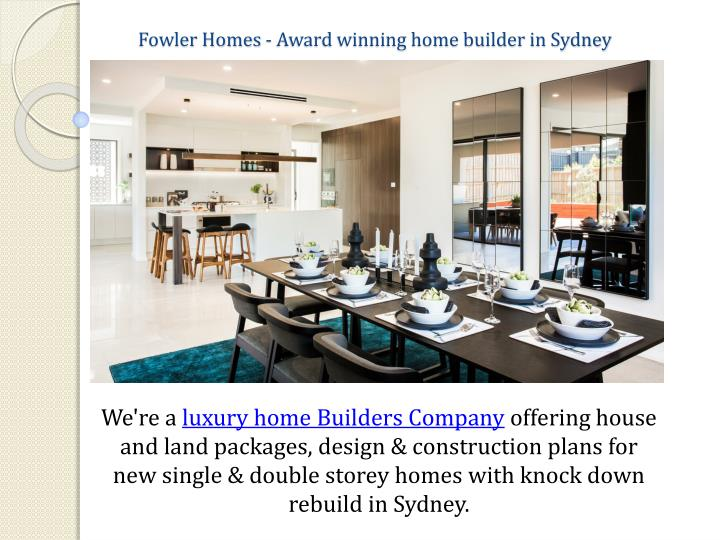 fowler homes award winning home builder in sydney n.