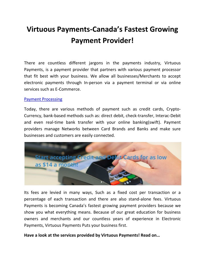 virtuous payments canada s fastest growing n.