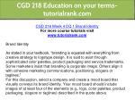 cgd 218 education on your terms tutorialrank com 13