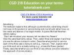 cgd 218 education on your terms tutorialrank com 14