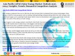 asia pacific apac solar energy market outlook