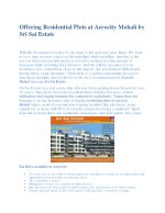 offering residential plots at aerocity mohali