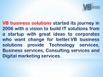 vb business solutions started its journey in 2006