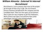 william almonte external vs internal recruitment 1