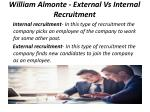 william almonte external vs internal recruitment 3