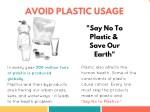 avoid plastic usage