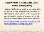 best women s tailor made dress maker in hong kong 1