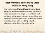 best women s tailor made dress maker in hong kong 4