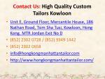 contact us high quality custom tailors kowloon