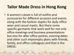 tailor made dress in hong kong