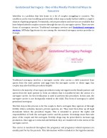 gestational surrogacy one of the mostly preferred