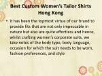best custom women s tailor shirts hong kong