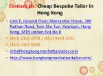 contact us cheap bespoke tailor in hong kong