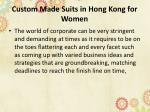 custom made suits in hong kong for women