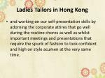 ladies tailors in hong kong