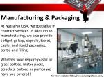 manufacturing packaging