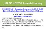 hsa 515 mentor successful learning 6
