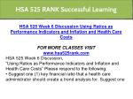 hsa 525 rank successful learning 10