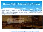 human rights tribunals for toronto