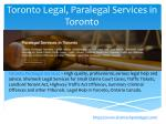 toronto legal paralegal services in toronto