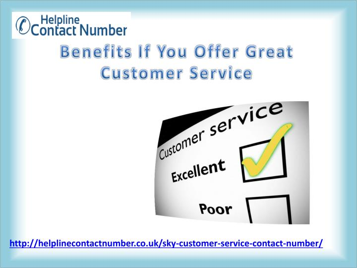 benefits if you offer great customer service n.