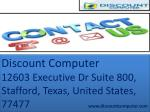 discount computer 12603 executive dr suite