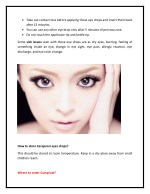 take out contact lens before applying those