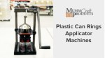 plastic can rings applicator machines