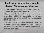the reasons why business people choose iphone app development 2
