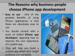 the reasons why business people choose iphone app development 6