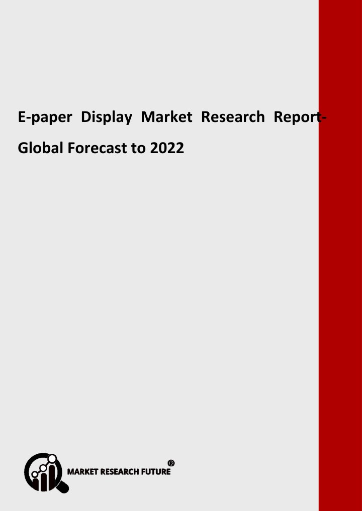 e paper display market research report global n.