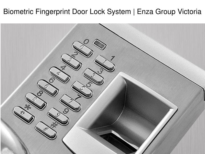 biometric fingerprint door lock system enza group n.