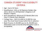 canada student visa eligibility criteria