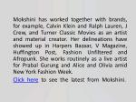 mokshini has worked together with brands