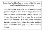 recognized wedding planner in goa behind the scene http www behindthescene co in 1