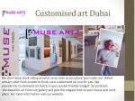 customised art dubai