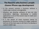 the reasons why business people choose iphone 2