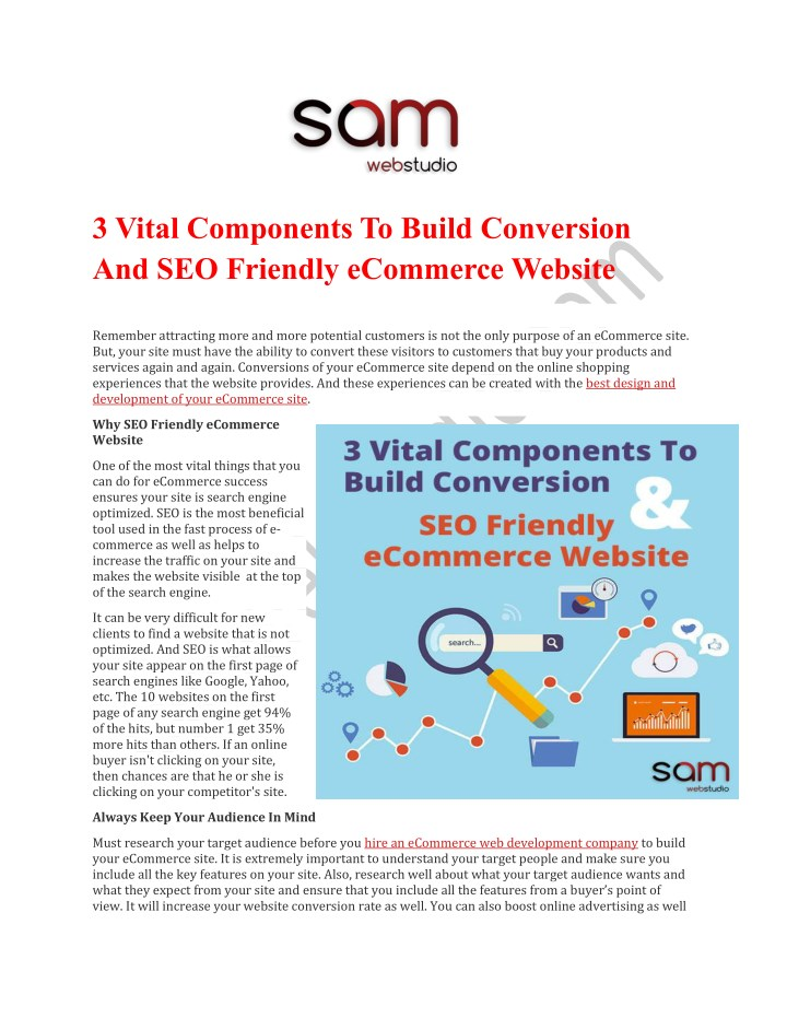 3 vital components to build conversion n.