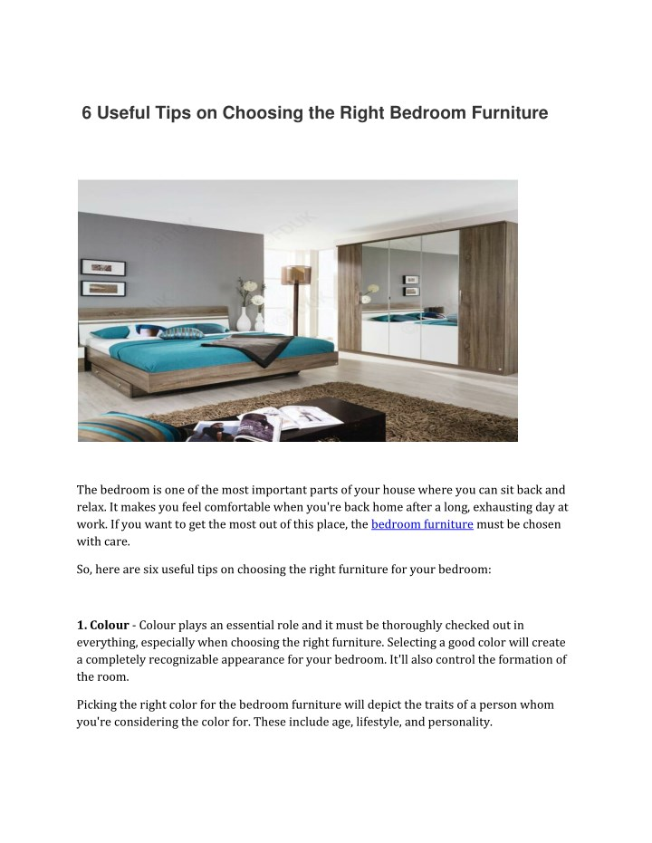 6 useful tips on choosing the right bedroom n.