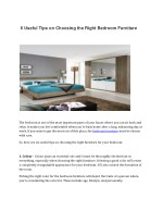 6 useful tips on choosing the right bedroom