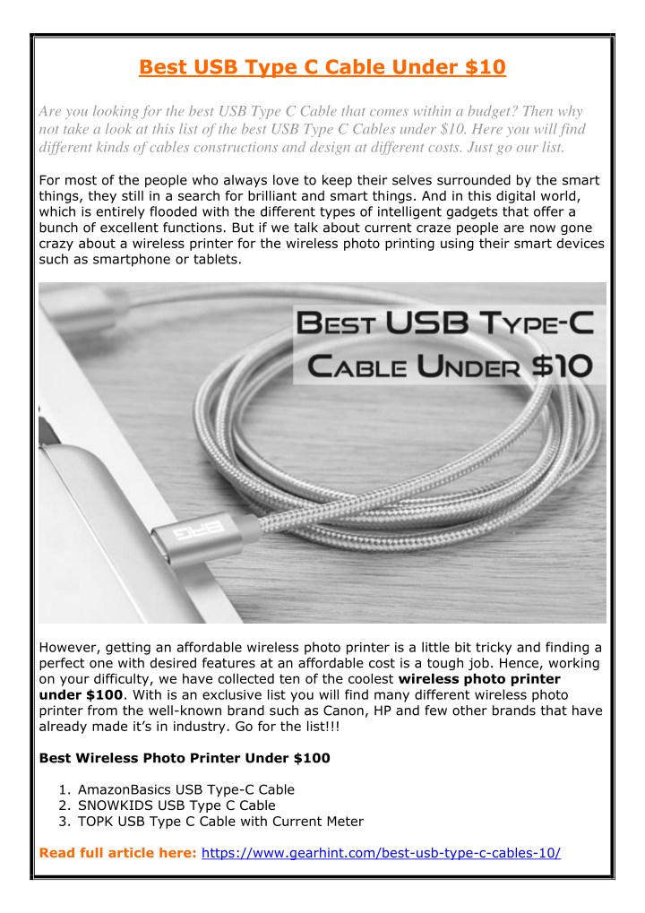 best usb type c cable under 10 are you looking n.