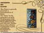 a brief description about blue pottery