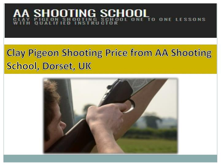 clay pigeon shooting price from aa shooting n.