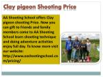 clay pigeon shooting price