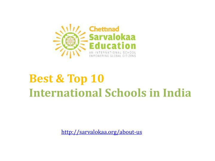 best top 10 international s chools in india n.