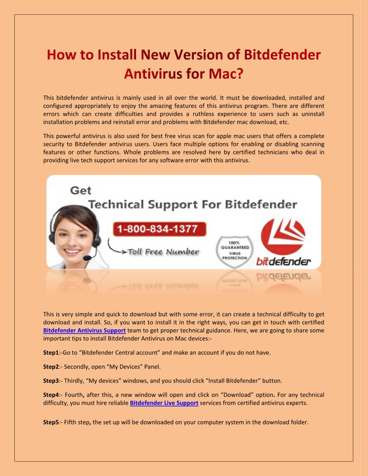 how to install new version of bitdefender n.