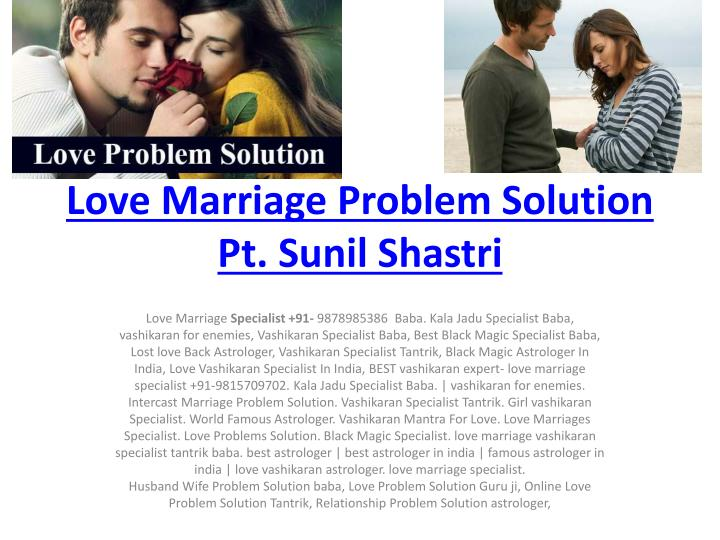 love marriage problem solution pt sunil shastri n.