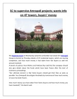 sc to supervise amrapali projects wants info